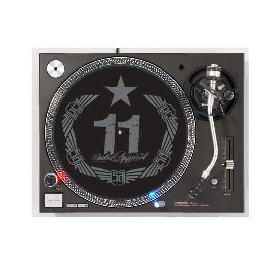 TURNTABLE - SLIP MATS - CREST - BLACK & CHARCOAL