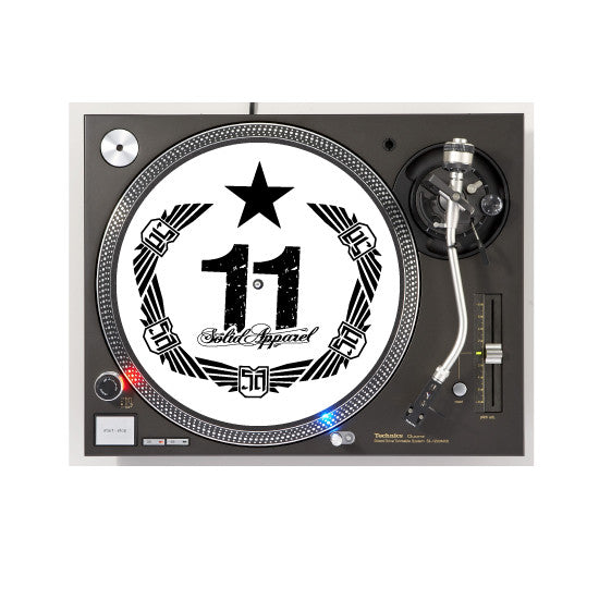 TURNTABLE - SLIP MATS - CREST - WHITE
