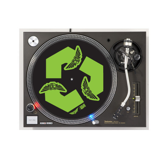 TURNTABLE - SLIP MATS - RECYCLE - BLACK