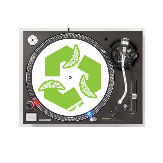 TURNTABLE - SLIP MATS - RECYCLE - WHITE
