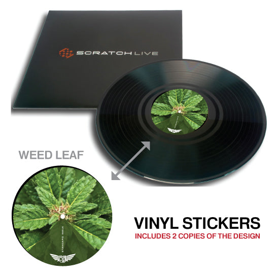 Serato / Vinyl record Lable (3Pack of pairs = 6 total)
