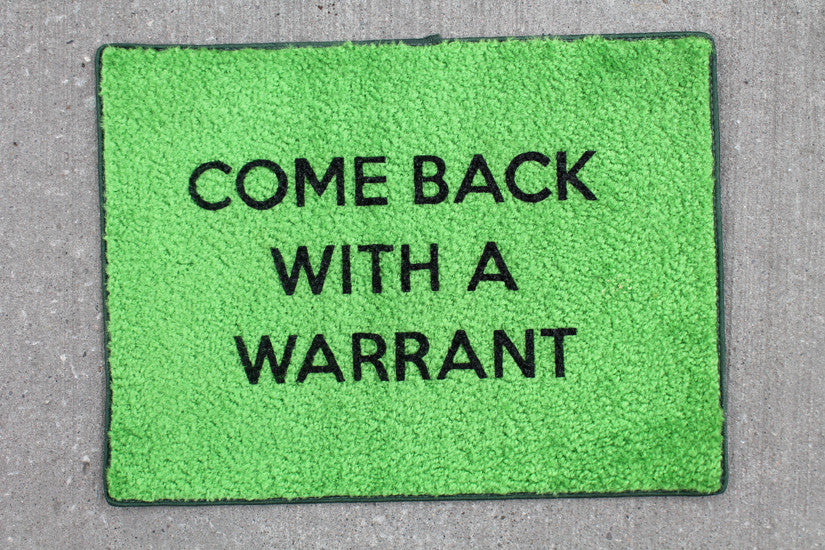 Warrant Door Mat - Green