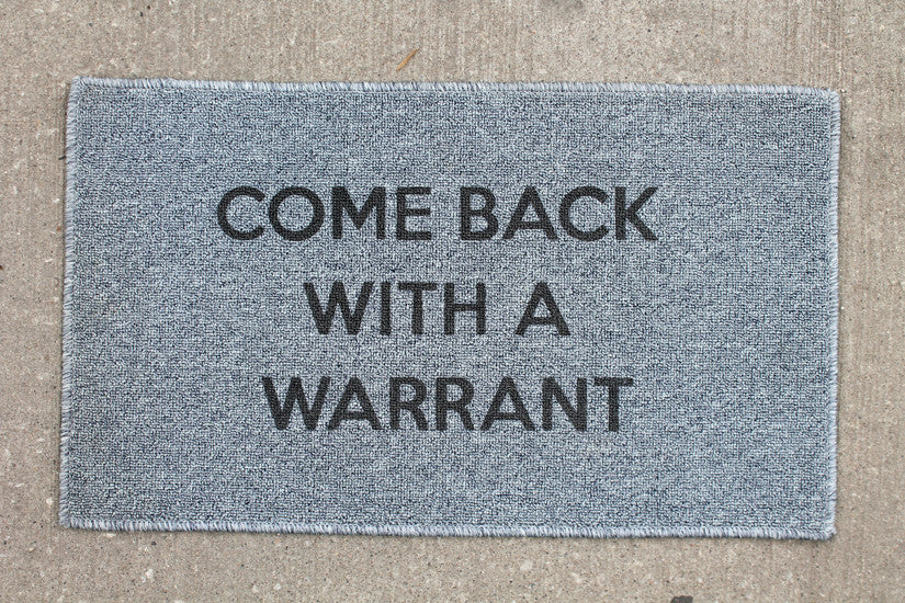 Warrant Door Mat - Grey