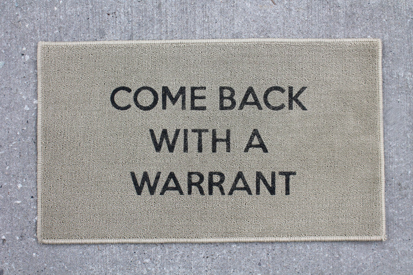 Warrant Door Mat - Biege