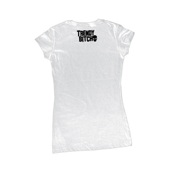 TRENDY BITCH MADDY - Womens T-shirt - WHITE