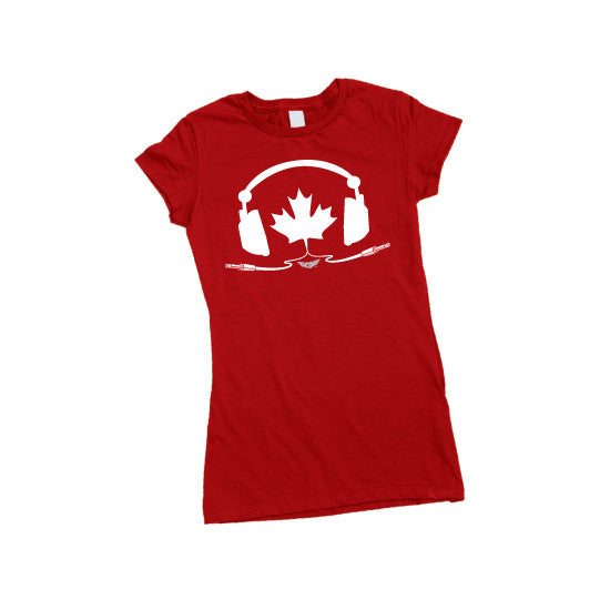 TUNE IN CANADA - Womens T-Shirt - RED