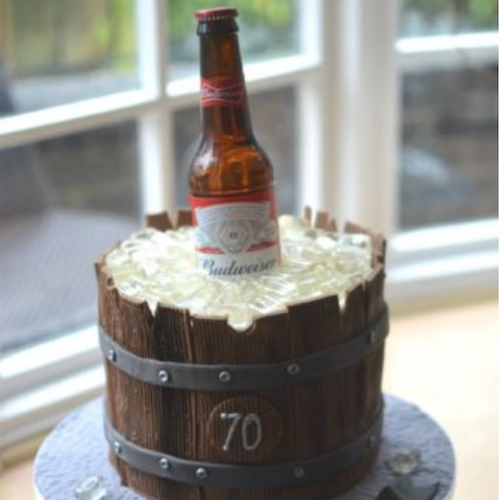 Designer Cake- Budweiser Cake Design (24 hrs advance notice required)