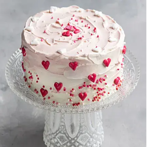 Valentine Special- Heart Chocolate Cream Cake