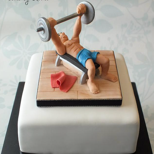 Designer Cake- Gym Lover