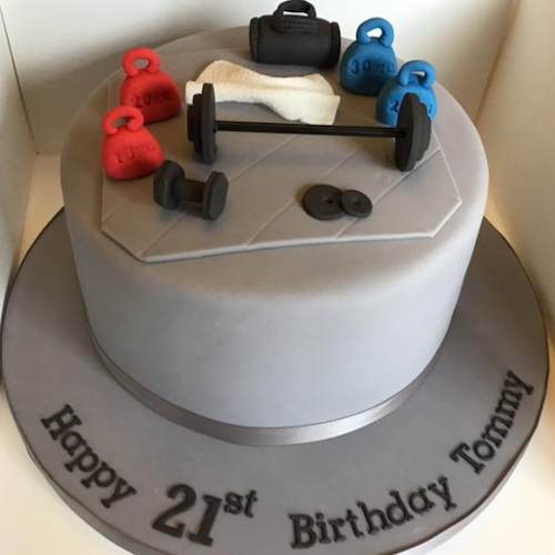Designer Cake- Gym theme