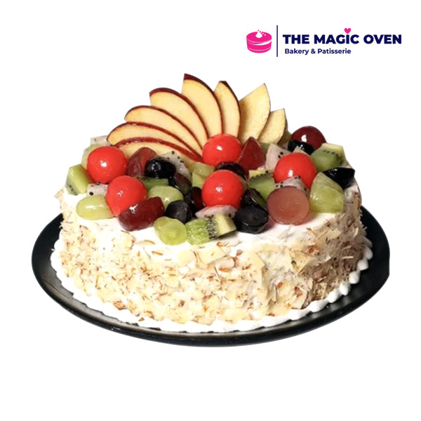 Fresh Fruit Crunch Cake