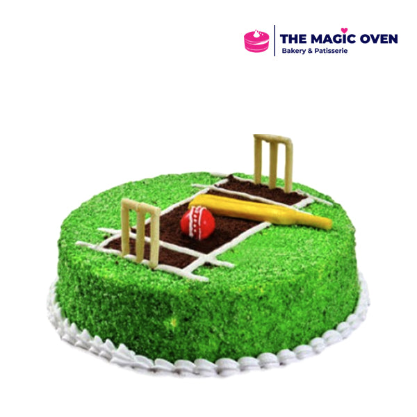 Designer Cake- Cricket Theme