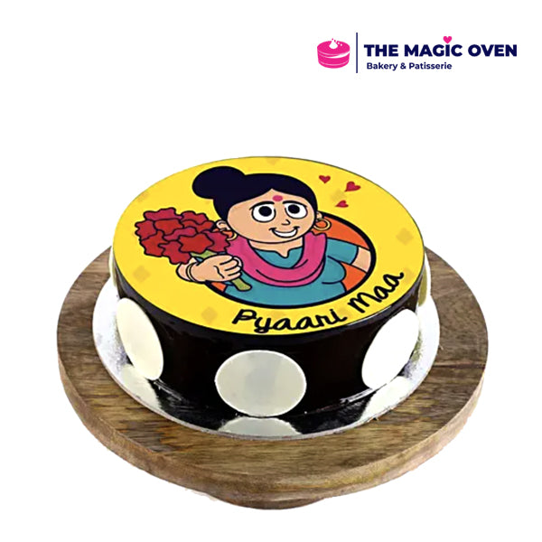 Pyari Maa Photo Cake