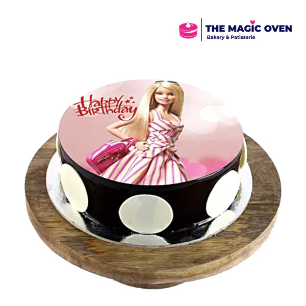 Barbie Photo Cake