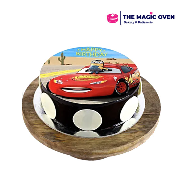 Car theme Photo Cake