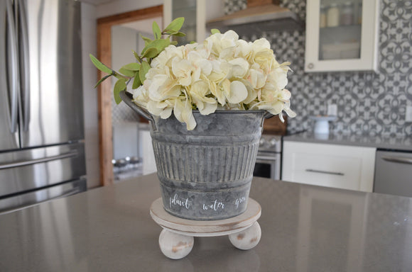 Plant Water Grow Wood Riser and Flower Pot...Wood Riser...Farmhouse Decor...Wood Stand with Flower Pot...Farmhouse Riser...Pedestal