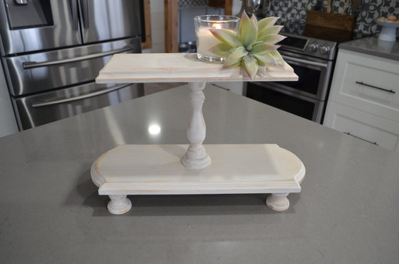 Farmhouse Tray...Double Tiered Tray...Farmhouse Wood Tiered Tray...Riser...Cupcake Tiered Tray...Farmhouse Decor...Double...Cupcake Stand