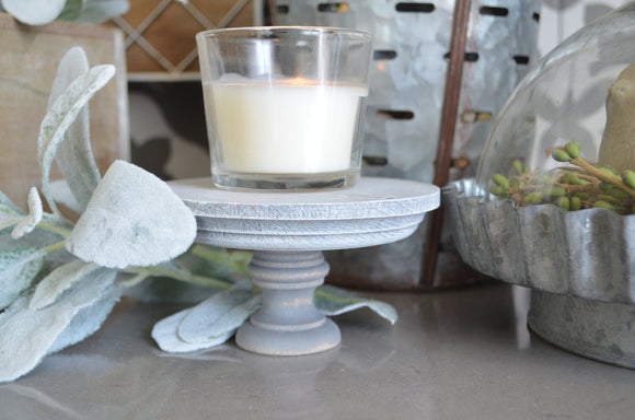 Gray Weathered Wood Riser...Farmhouse Decor...Wood Stand...Farmhouse Riser...Pedestal...Mason Jar Stand...Weathered Wood...Candle Riser