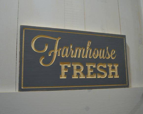 Farmhouse Fresh Sign...Engraved Farmhouse Sign...Wall Decor...Pantry Sign
