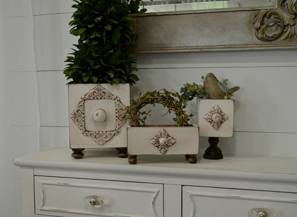 Farmhouse Decorative Boxes...Wood Boxes...Farmhouse Decor...Handmade Boxes...Set of Three Decorative Boxes