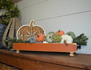 Harvest Farmhouse Caddy...Wood Caddy...Wood Tray...Farmhouse Centerpiece