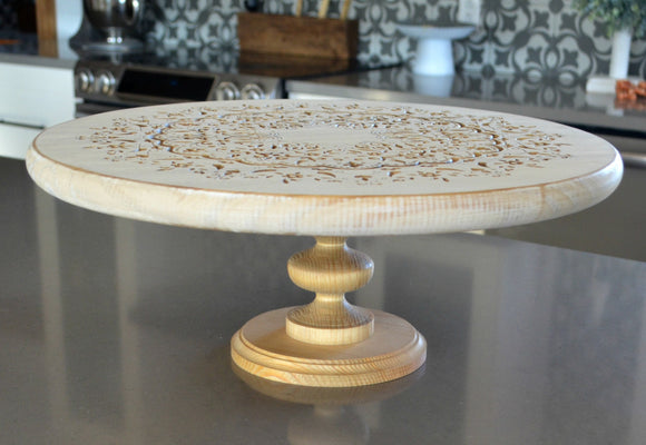 Engraved Pedestal Tray...Farmhouse Tray...Round Riser...Pedestal Tray...Charcuterie Tray...Cake Stand...Wood Riser...Engraved Round Stand