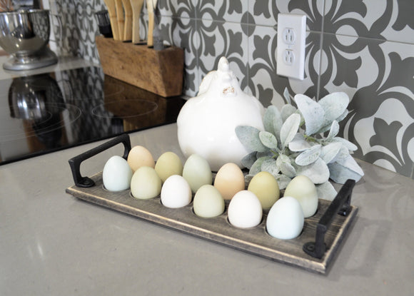 Farm Fresh Egg Holder...Farmhouse Egg Tray...Wooden Egg Holder