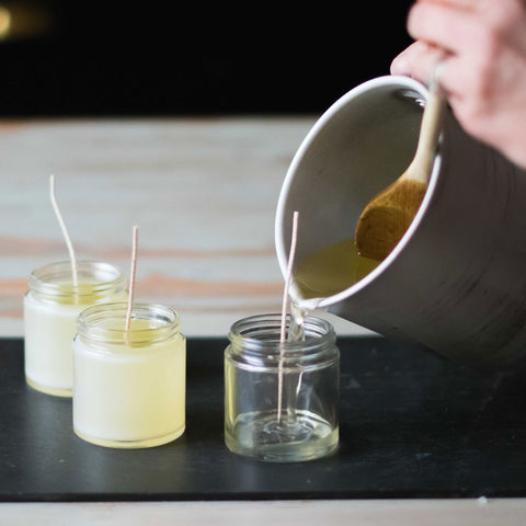Candle Making Process - Pouring Candles