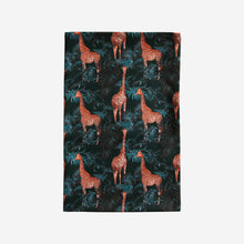 Load image into Gallery viewer, Teal Giraffe Tea Towel