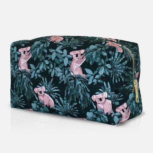 Koala Wash Bag Side Angle with Zip