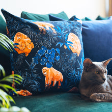 Load image into Gallery viewer, Navy Velvet Cushion