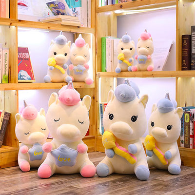 Peluche licorne louise groupe