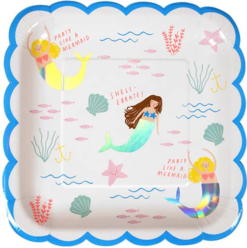Meri Meri Let's Be Mermaids Paper Plate