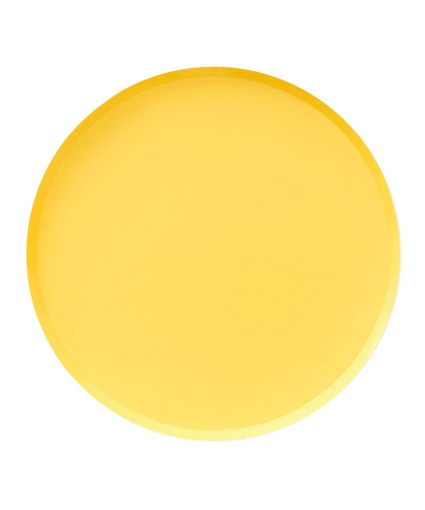 Yellow Dinner Plates 9 inch