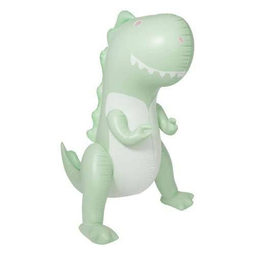 Inflatable Giant Sprinkler Surfing Dino - Ice Mint