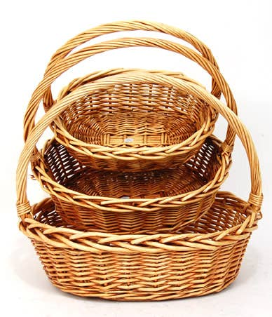 Medium Oval Honey Willow Basket