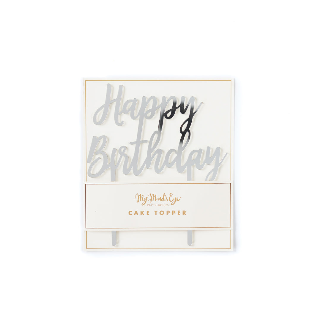Happy Birthday Holographic Cake Topper