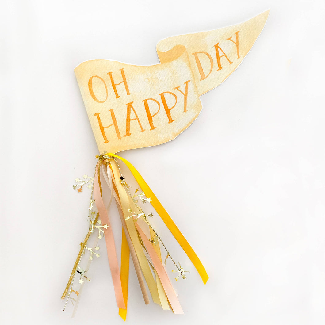 Oh Happy Day Party Pennant