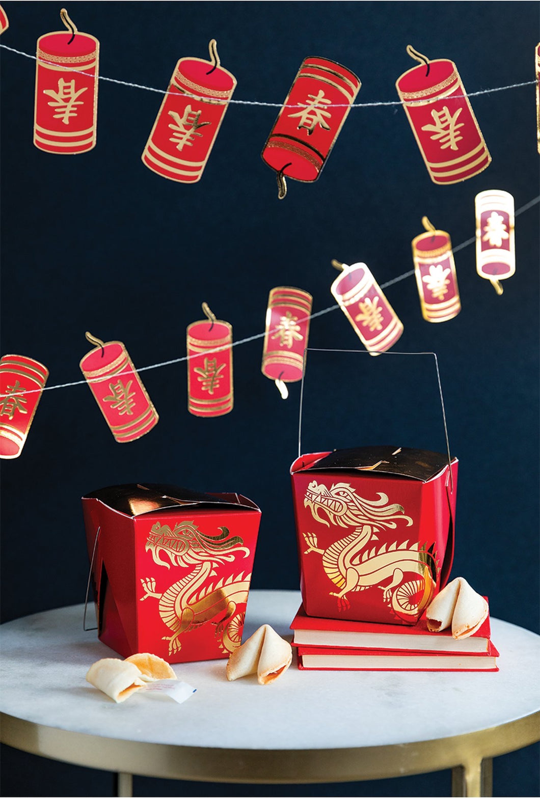 Chinese New Year Fire Cracker Banner