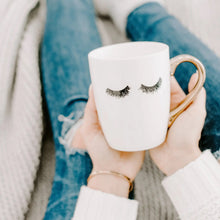 Load image into Gallery viewer, White Eyelashes Coffee Mug