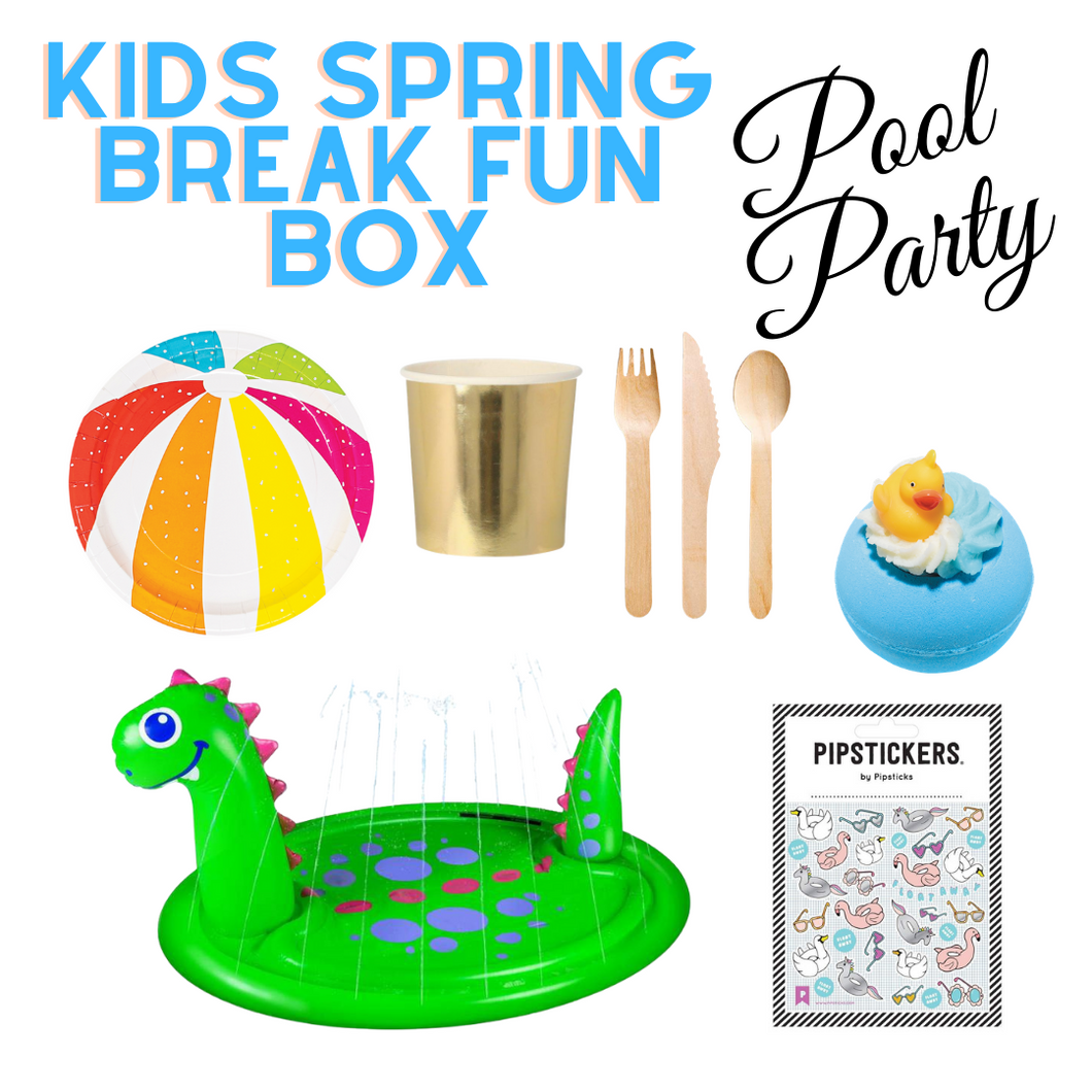 Kids Spring Break Fun Box Pool Party