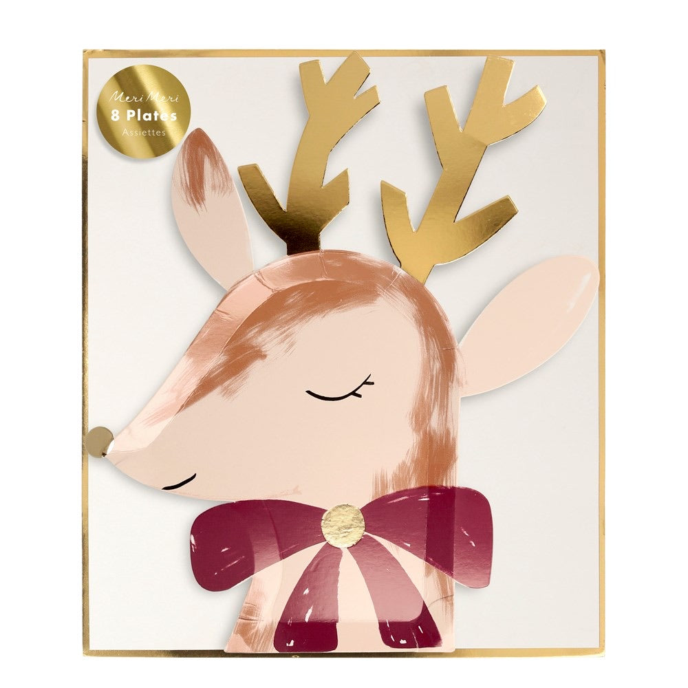 Reindeer with Bow Dinner Plate