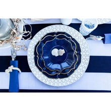 Load image into Gallery viewer, 8 Navy Dinner Plates
