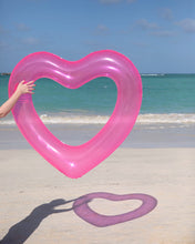 Load image into Gallery viewer, Beach Please Jumbo Heart Inner Tube - Confetti Pink