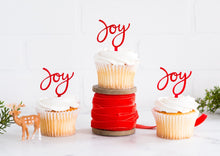 Load image into Gallery viewer, Holiday Joy Cupcake Topper