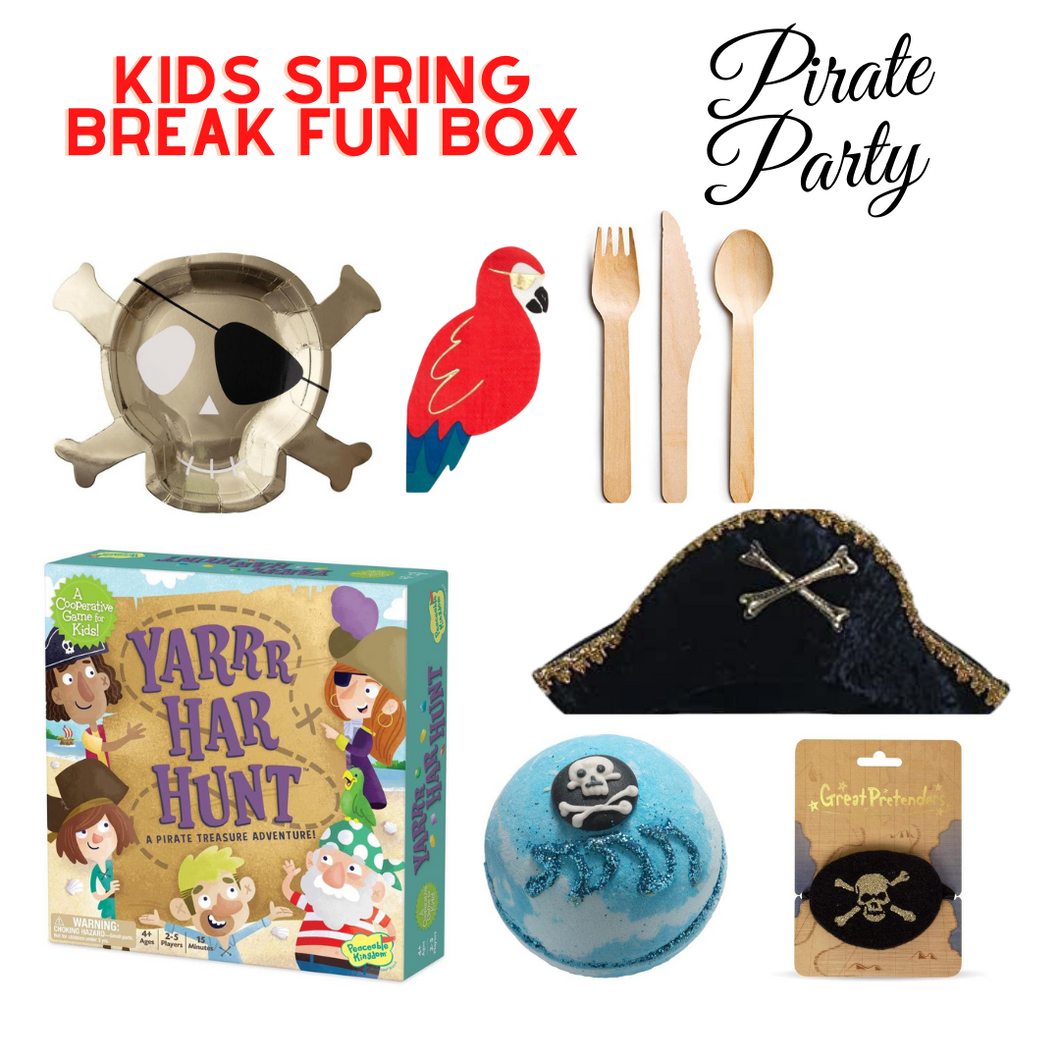 Kids Spring Break Fun Box Pirate Party