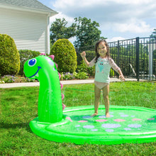 Load image into Gallery viewer, Dinosaur Splash Pad sprinkler with pool