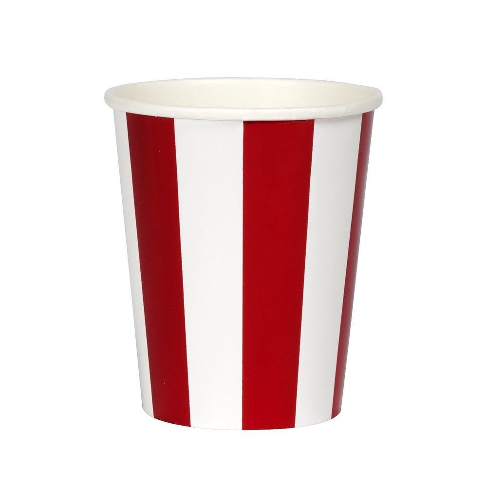 Shiny Red Stripe Cup