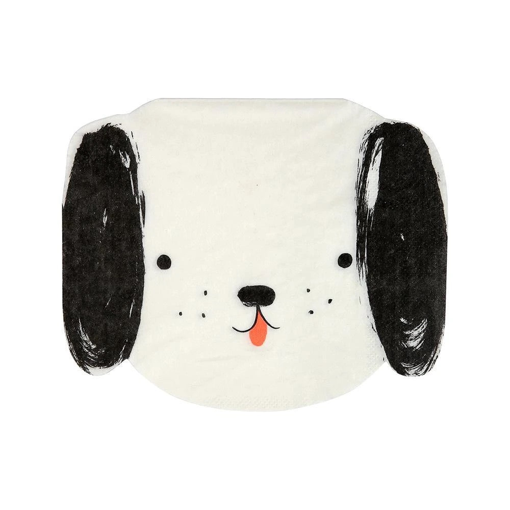 Meri Meri Black & White Dog Napkin