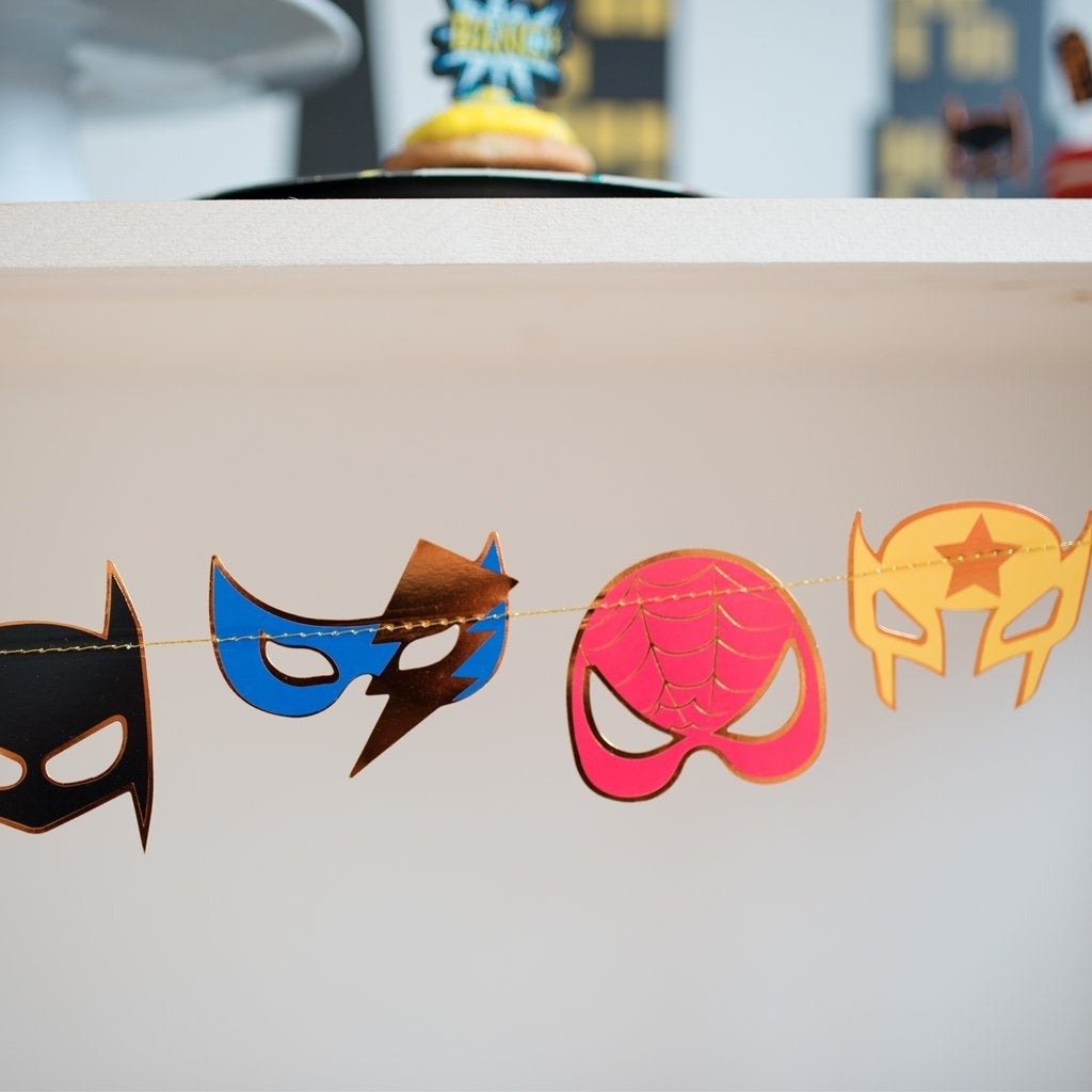 Superhero Mask Garland